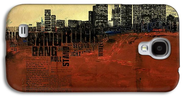 Cities Paintings Galaxy S4 Cases - Los Angeles Collage 3 Galaxy S4 Case by Corporate Art Task Force