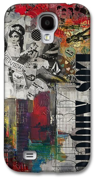 Cities Paintings Galaxy S4 Cases - Los Angeles Collage Alternative Galaxy S4 Case by Corporate Art Task Force
