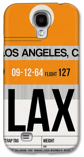 Town Mixed Media Galaxy S4 Cases - Los Angeles Luggage Poster 2 Galaxy S4 Case by Naxart Studio