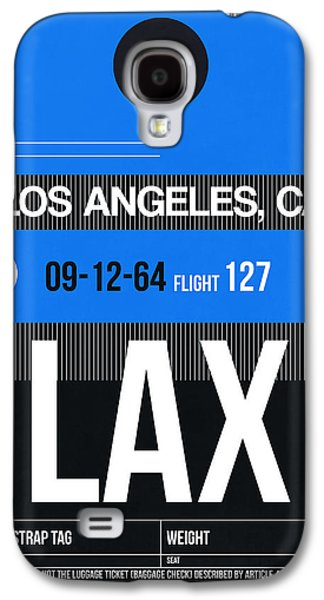 States Mixed Media Galaxy S4 Cases - Los Angeles Luggage Poster 3 Galaxy S4 Case by Naxart Studio