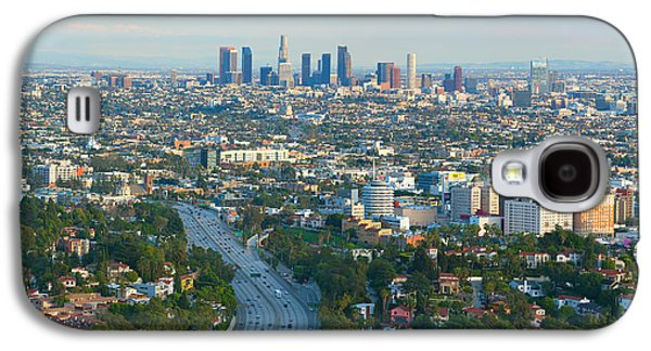 Landscapes Photographs Galaxy S4 Cases - Los Angeles Skyline and Los Angeles Basin Panorama Galaxy S4 Case by Ram Vasudev
