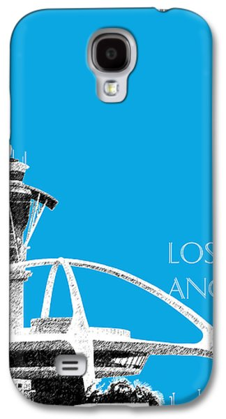 Pencil Digital Galaxy S4 Cases - Los Angeles Skyline LAX Spider - Ice Blue Galaxy S4 Case by DB Artist