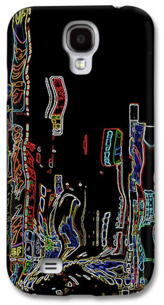 Abstract Digital Mixed Media Galaxy S4 Cases - Losing Equilibrium - Abstract Art Galaxy S4 Case by Carol Groenen