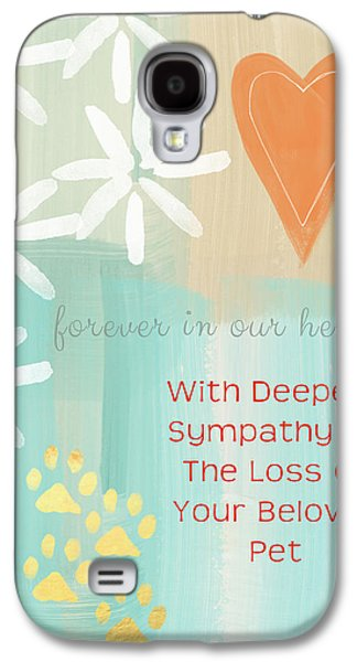 Pet Galaxy S4 Cases - Loss of Beloved Pet Card Galaxy S4 Case by Linda Woods
