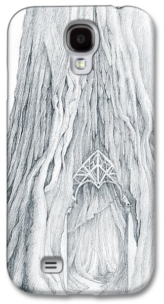 Tree Roots Mixed Media Galaxy S4 Cases - Lothlorien Mallorn Tree Galaxy S4 Case by Curtiss Shaffer