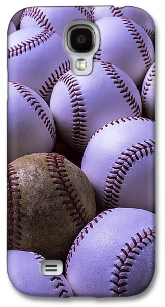 Sports Photographs Galaxy S4 Cases - Lots Of Baseballs Galaxy S4 Case by Garry Gay