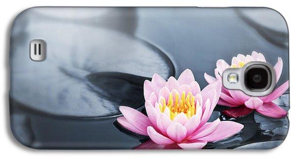 Botany Galaxy S4 Cases - Lotus blossoms Galaxy S4 Case by Elena Elisseeva