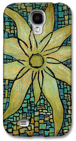 Indian Ink Mixed Media Galaxy S4 Cases - Lotus Galaxy S4 Case by Carla Sa Fernandes