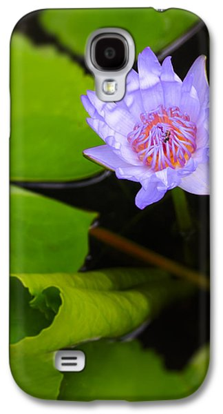 Interior Still Life Photographs Galaxy S4 Cases - Lotus Flower and Lily Pad Galaxy S4 Case by Adam Romanowicz