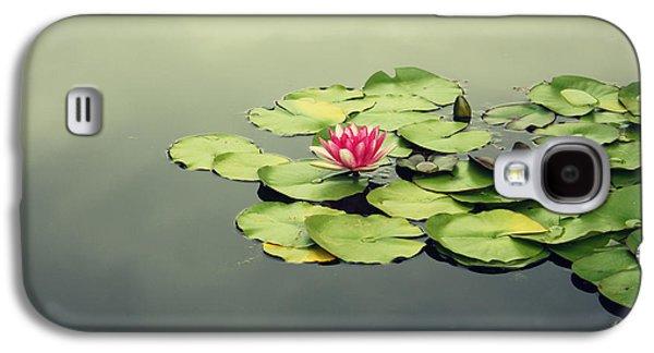 Mystical Landscape Mixed Media Galaxy S4 Cases - Lotus Flower Galaxy S4 Case by Barbara Ki