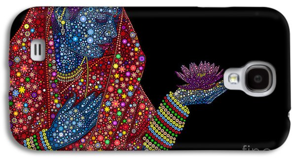 Praying Hands Galaxy S4 Cases - Lotus Girl Galaxy S4 Case by Tim Gainey