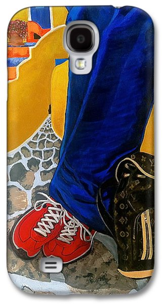 Nike Paintings Galaxy S4 Cases - Louie Galaxy S4 Case by Chris Eckley