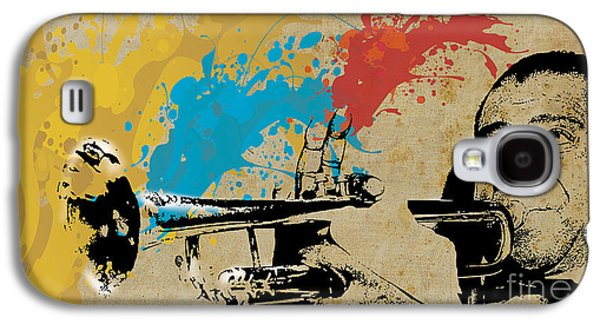 Louis Armstrong Trumpet And Colors Galaxy S4 Case by Pablo Franchi