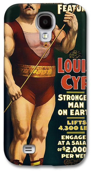 Posters On Mixed Media Galaxy S4 Cases - Louis Cyr - Strongest Man on Earth Galaxy S4 Case by Mountain Dreams