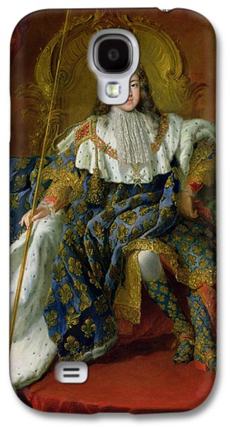 Youthful Paintings Galaxy S4 Cases - Louis XV Galaxy S4 Case by Alexis Simon Belle