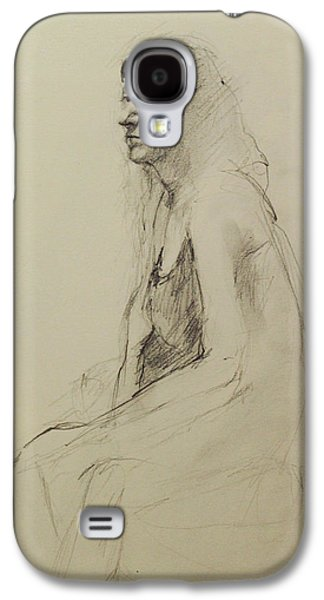 Becky Kim Drawings Galaxy S4 Cases - Louisa Galaxy S4 Case by Becky Kim