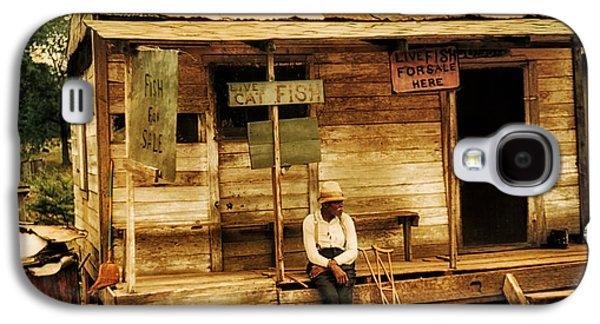 Crutch Galaxy S4 Cases - Louisiana Fish Shop in 1940 Galaxy S4 Case by Mountain Dreams