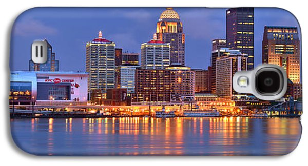 City Scene Galaxy S4 Cases - Louisville Skyline at Dusk Sunset Panorama Kentucky Galaxy S4 Case by Jon Holiday