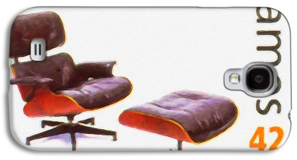Empty Chairs Paintings Galaxy S4 Cases - Lounge chair and ottoman Galaxy S4 Case by Lanjee Chee