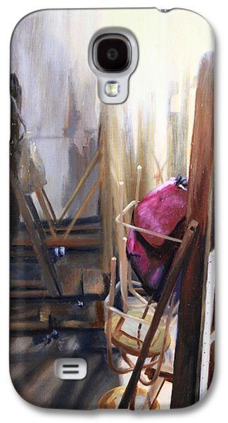 Behind The Scenes Paintings Galaxy S4 Cases - Louvre Closet Galaxy S4 Case by Shelley  Irish