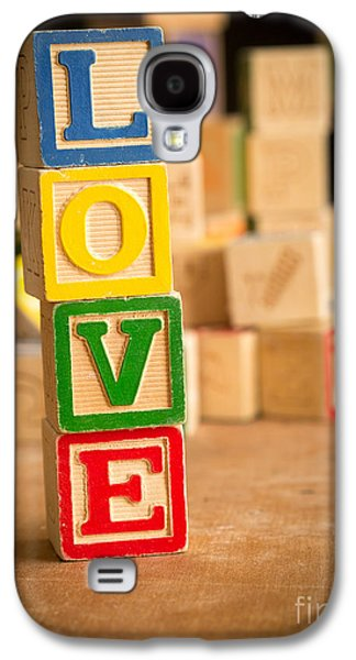 Day Galaxy S4 Cases - LOVE - Alphabet Blocks Galaxy S4 Case by Edward Fielding