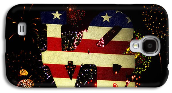 Recently Sold -  - 4th July Galaxy S4 Cases - Love American Style Galaxy S4 Case by Bill Cannon