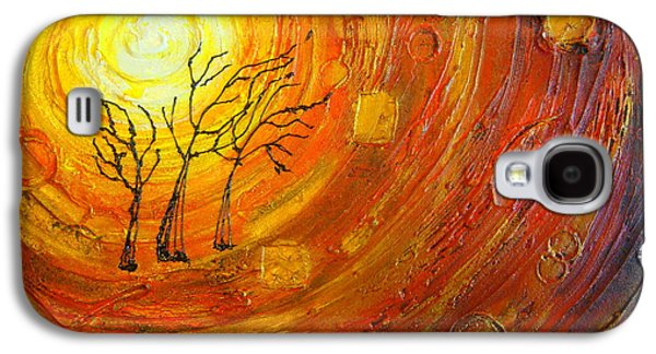 Sunset Abstract Galaxy S4 Cases - Love and Hope Galaxy S4 Case by Elena  Constantinescu