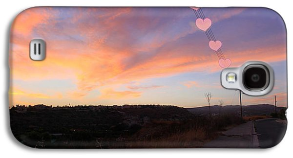Amazing Sunset Galaxy S4 Cases - Love and Sunset Galaxy S4 Case by Augusta Stylianou