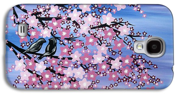 Catherine White Paintings Galaxy S4 Cases - Love at Dusk Galaxy S4 Case by Cathy Jacobs