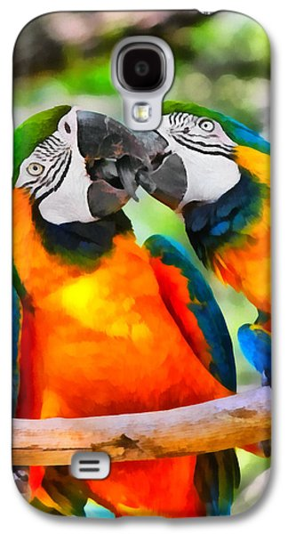 Love Bites - Parrots In Silver Springs Galaxy S4 Case by Christine Till