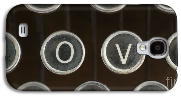 Typewriter Keys Photographs Galaxy S4 Cases - Love Galaxy S4 Case by Edward Fielding