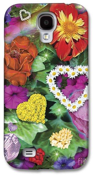 Alixandra Mullins Galaxy S4 Cases - Love Flowers Garden Galaxy S4 Case by Alixandra Mullins