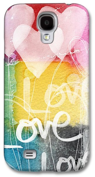 Balloons Galaxy S4 Cases - Love Hearts Galaxy S4 Case by Linda Woods