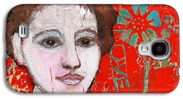 Artistic Paintings Galaxy S4 Cases - Love Hurts by Blenda Studio Galaxy S4 Case by Blenda Studio
