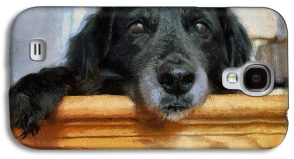 Puppy Digital Galaxy S4 Cases - Love In A Puppys Eyes Galaxy S4 Case by Paulette B Wright