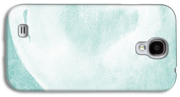 Light Mixed Media Galaxy S4 Cases - Love in Aqua Galaxy S4 Case by Linda Woods