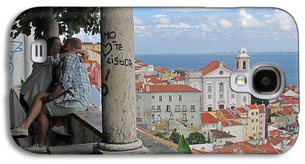 Church Pillars Paintings Galaxy S4 Cases - Love in Lisbon  Galaxy S4 Case by Robert Gerdes