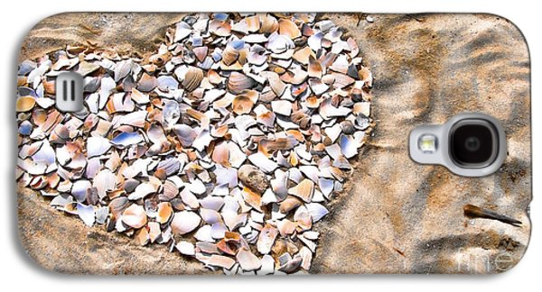 Original Art Photographs Galaxy S4 Cases - Love in the Sand Galaxy S4 Case by Colleen Kammerer