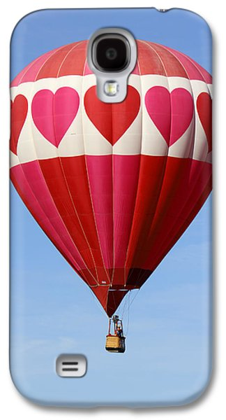 Hot Air Balloon Galaxy S4 Cases - Love is in the Air Galaxy S4 Case by Mike McGlothlen