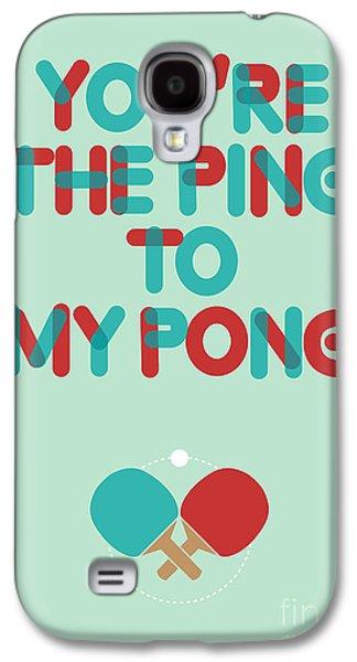Greeting Digital Art Galaxy S4 Cases - Love is like ping pong Galaxy S4 Case by Budi Satria Kwan