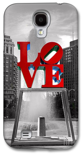Phillies Galaxy S4 Cases - Love isnt always black and white Galaxy S4 Case by Paul Ward