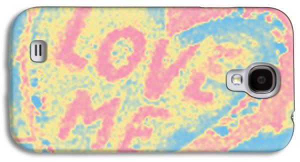 Digital Galaxy S4 Cases - Love Me Galaxy S4 Case by Marian Bell