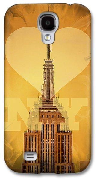 New York New York Com Galaxy S4 Cases - Love New York Galaxy S4 Case by Az Jackson