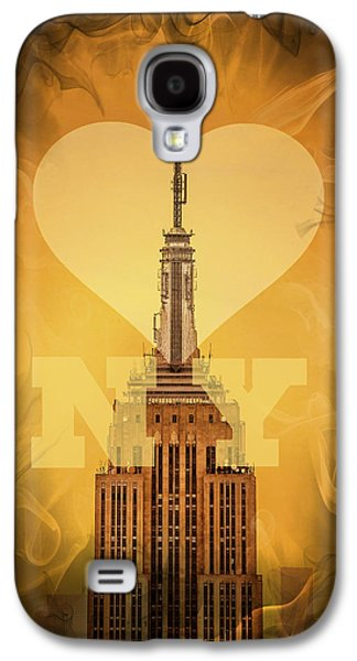 Featured Art Galaxy S4 Cases - Love New York Galaxy S4 Case by Az Jackson