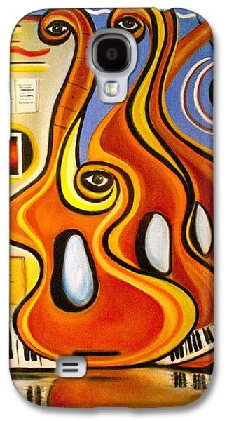 Dance Floor Paintings Galaxy S4 Cases - Love on the Dance Floor Galaxy S4 Case by Frank B Shaner