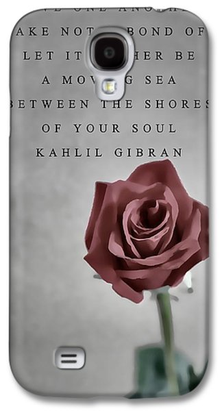Author Mixed Media Galaxy S4 Cases - Love One Another Kahlil Gibran Galaxy S4 Case by Dan Sproul