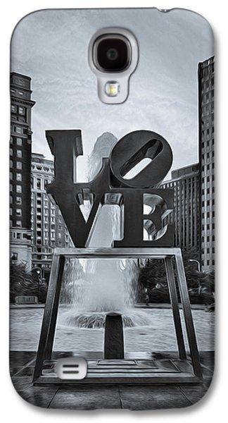 Enhance Galaxy S4 Cases - Love Park BW Galaxy S4 Case by Susan Candelario