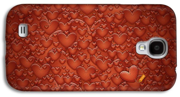 Animation Galaxy S4 Cases - Love Patches Galaxy S4 Case by Gianfranco Weiss