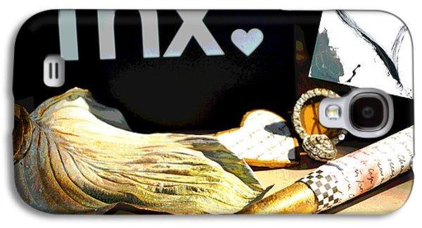 Surtex Licensing Galaxy S4 Cases - Love Peace Gratitude - Gold and Pink Galaxy S4 Case by ArtyZen Studios