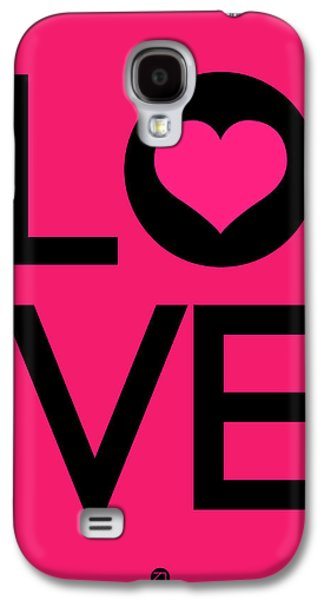 Motivational Galaxy S4 Cases - Love Poster 5 Galaxy S4 Case by Naxart Studio